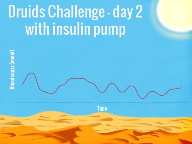 blood glucose 28 mile run