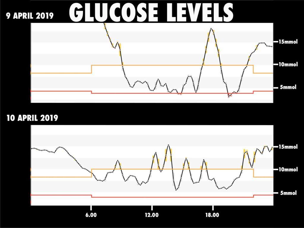 glucose levels marathon des sables